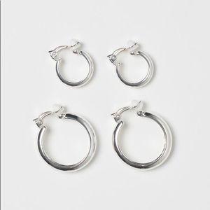 2 pack Clip hoop earrings